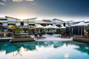 Lagoons Resort - swimming pool and relaxation area – luxury short break