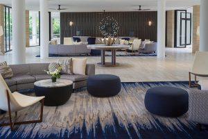 Hayman Island - Intercontinental Hotel stylish lobby - luxury short breaks on a private aircraft