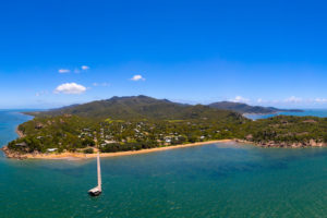 Magnetic Island - Panorama of Picnic Bay on a clear day – luxury short breaks on a private aircraft