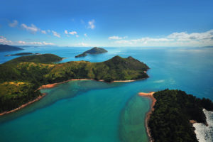 Whitsunday Islands - aerial view over the islands – Bill Peach Journeys
