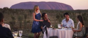 Uluru - Enjoying dinner at the Sounds of Silence - Luxury Private Air Tour Australia