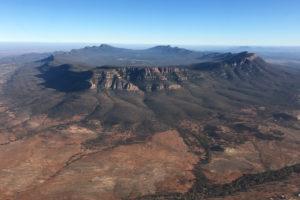 Flinders Ranges - Wilpena Pound from the air - Bill Peach Journeys