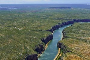 Berkeley River - aerial views over the outback and river - Luxury Private Kimberley Air Tour
