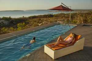 Berkeley River Lodge - enjoying the warm Western Australian afternoon and swims - Luxury Private Kimberley Air Tour