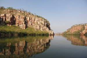 Berkeley River - towering cliff faces and calm waters - Luxury Private Kimberley Air Tour