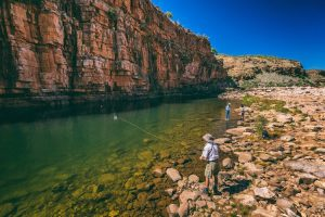 El Questro - fishing in the wilderness park at El Questro Station - Luxury Private Kimberley Air Tour