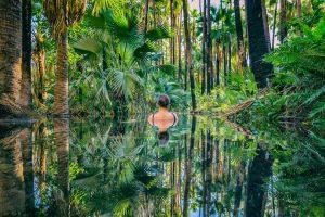 El Questro - relaxing in zebedee natural thermal springs - Luxury Private Kimberley Air Tour