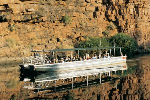 El Questro - cruising the Chamberlain Gorge looking for crocodiles - Luxury Private Kimberley Air Tour