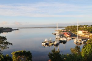 Strahan - a harbour-side village with fascinating convict past - Luxury Private Air Tour Tasmania