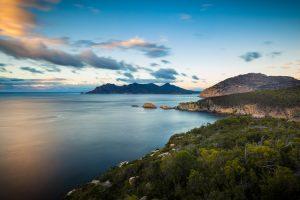 Freycinet National Park - a coastal view of the Tasmanian park - Luxury Private Air Tour Tasmania