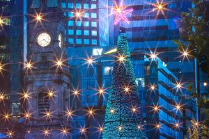 Adelaide - Victoria Square decorated for the festive season - luxury short breaks South Australia