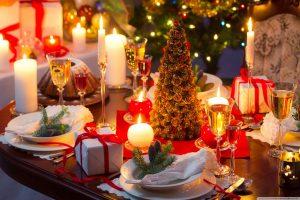 Adelaide - Christmas dinner table set - luxury short breaks South Australia