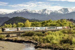 Kahutara River - Coastal Pacific train journey alongside the Kaikoura Ranges - Luxury train journeys