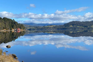 Huon River - view from Coast House boutique property - Luxury solo tours
