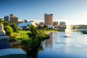 Adelaide - clear day in Adelaide city - luxury short breaks South Australia
