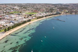 Port Lincoln - aerial view over the bay - luxury short breaks South Australia