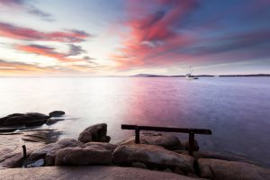 Port Lincoln - sunset over the calm waters - luxury short breaks South Australia