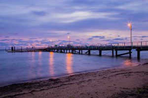 Port Lincoln - sunset at the wharf on the Eyre Peninsula - luxury short breaks South Australia