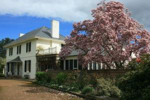 Longford, Tasmania - Brickendon Estate spring blooms surrounding main house - Luxury Short Breaks Australia