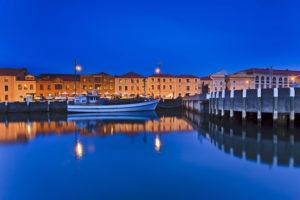 Hobart - waters edge historic buildings at night - Luxury Short Breaks Australia