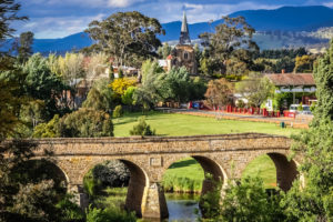 Richmond, Tasmania - bridge and townscape of quaint township - Luxury Short Breaks Australia