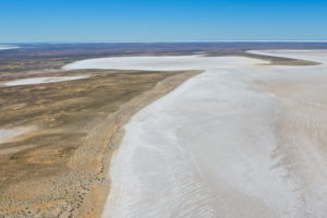 Lake Eyre - Aerial view of salt lakes – private aircraft tour