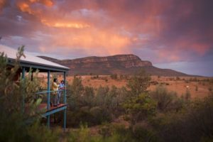 Rawnsley Park Station – sunset on the balcony at Rawnsley Park Station – luxury accommodation in the Flinders Ranges