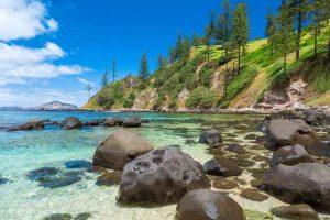 Norfolk Island - secluded rocky beach of Bumboras or Creswell Bay - luxury short breaks