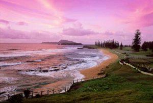 Norfolk Island - Cemetery Bay at sunset - luxury short breaks
