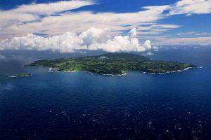 Norfolk Island - aerial photo of the whole island - luxury short breaks