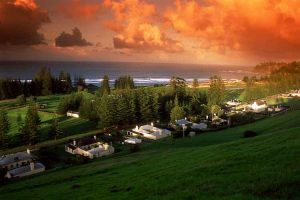 Norfolk Island - QE Lookout over Quality Row and Emily Bay at sunset - luxury short breaks