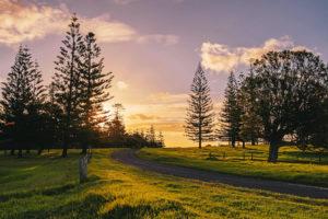 Norfolk Island - Sun setting over the hill - - Luxury Short Break