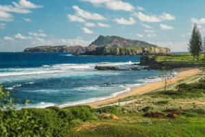 Norfolk Island - Farmland coming down to beach - - Luxury Short Break