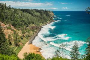 Norfolk Island - Norfolk Pines lining the coast - - Luxury Short Break
