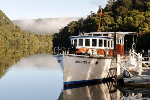Corinna - the Arcadia II, Huon pine river cruise - luxury short breaks Tasmania
