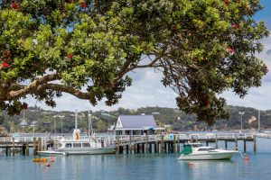 Russell - ferry terminal with boats arriving from Paihea - Luxury short breaks New Zealand