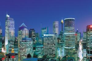 Sydney - skyline and Centrepoint Tower - luxury short breaks Australia