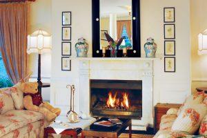 Blue Mountains - Lilienfels Resort fireplace in lounge room - luxury short breaks Australia