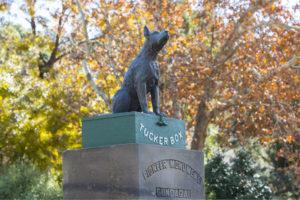 Dog on Tuckerbox - Gundagai - Bill Peach Journeys