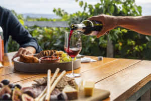NSW Riverina - Yarran Wines red wine and cheese tasting platter - luxury Solo Tours