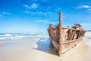 Fraser Island - The S.S Maheno famous shipwreck - Luxury short breaks Australia