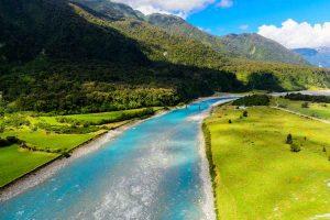 Franz Josef - glacial river from Fox Glacier - Luxury short breaks New Zealand