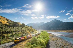 Waimakariri Gorge - TranzAlpine train alongside Waimakariri River - Luxury solo tours