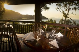 Thala Beach - Osprey's Restaurant at sunset - Luxury short breaks Queensland