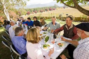 Victoria - guests enjoying a gourmet lunch in the country - Luxury short breaks Australia