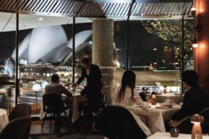 Sydney - Dining at Aria overlooking the Sydney Opera House - luxury short breaks New South Wales