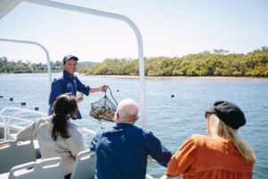 Broken Bay - Pearl Farm boat tour to see Akoya pearls - luxury short breaks New South Wales