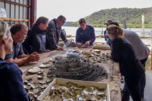 Broken Bay - learning about how pearls are grown - luxury short breaks New South Wales
