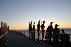 Newcastle - sun rising over the Newcastle Memorial Walk - luxury short breaks New South Wales