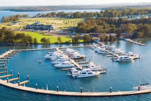 Trinity Point - boats in the harbour - luxury short breaks New South Wales